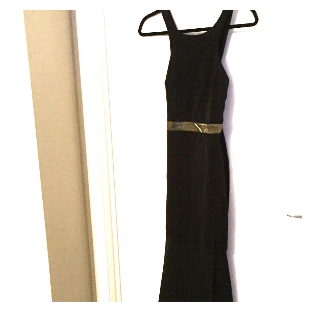 Gorgeous black u gold cocktail dress nwt size products