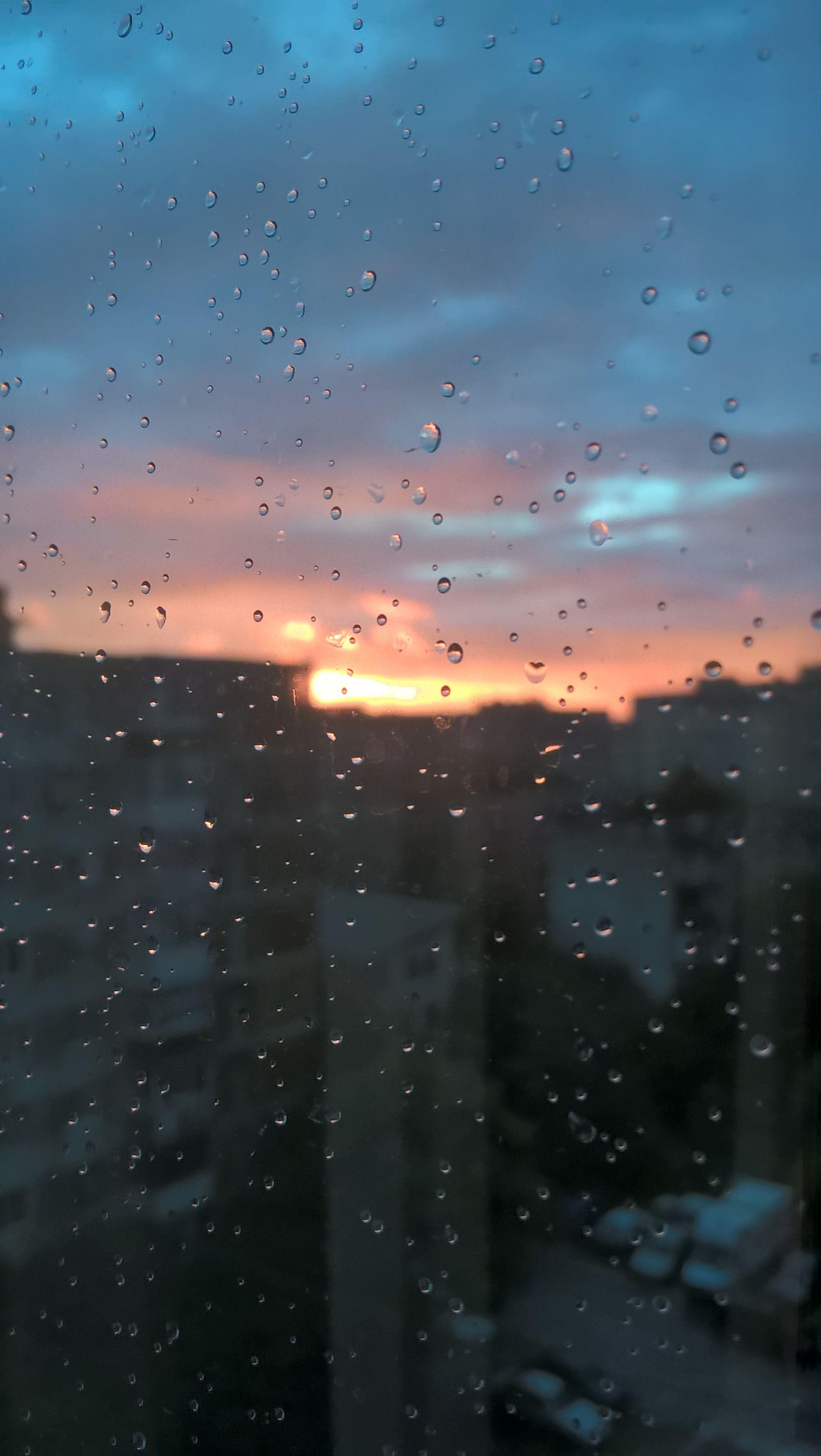 Drops Sunset Rain Photography Aesthetic Wallpapers Love Rain