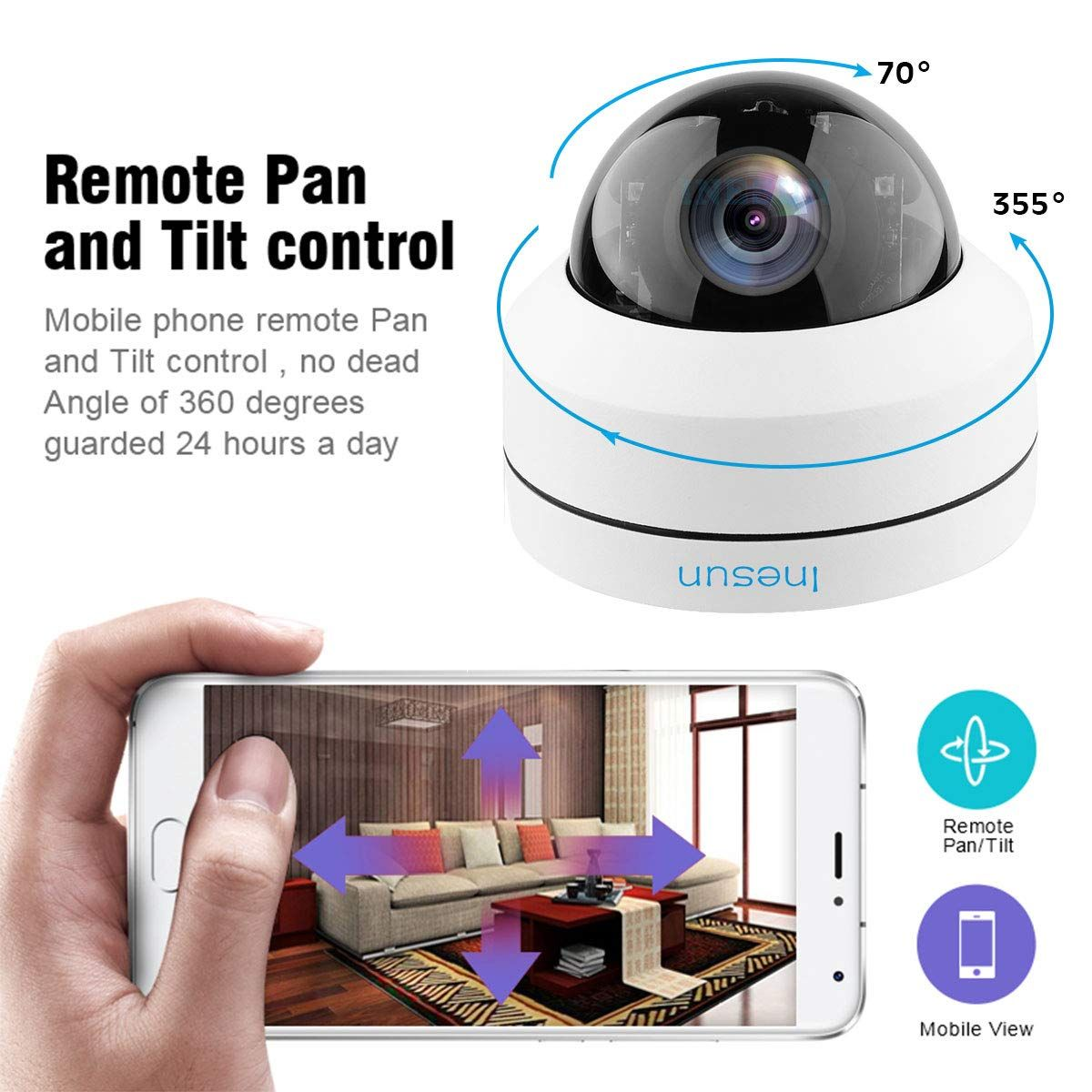 """2x Wide Angle Dome Security Camera Day Night Vision Outdoor w// 1//3/"""" SONY CCD wj8"""