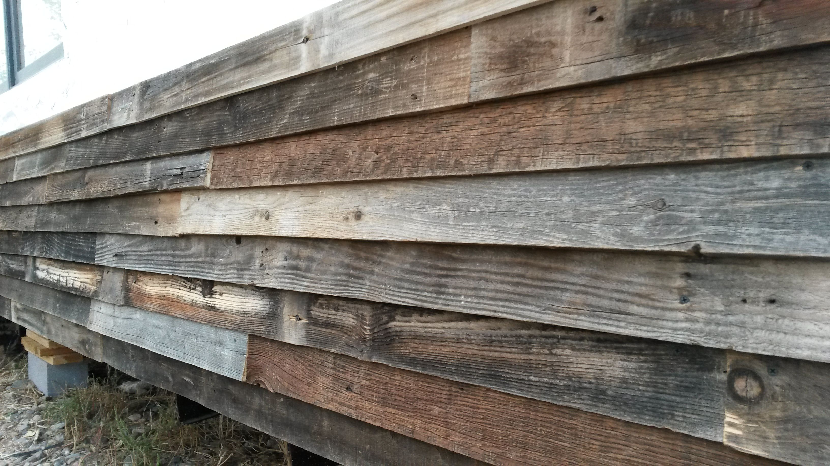 Use Old Fence Boards For Siding As Long As The Surface Below Is Properly Sheathed Old Fence Boards Cedar Fence Boards Old Fences
