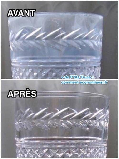 comment enlever du calcaire sur les verres