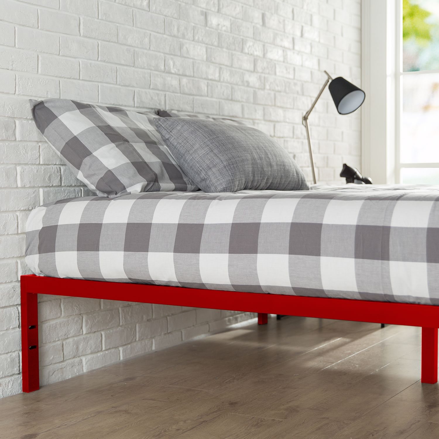 Buy a Platform 1500 Metal Bed Frame Mattress Foundation   Red  Shop Zinus  for mattresses and other comfort solutions and discover a better sleep. zinus platform metal bed frame 1500 5   Home Decor  Nigel