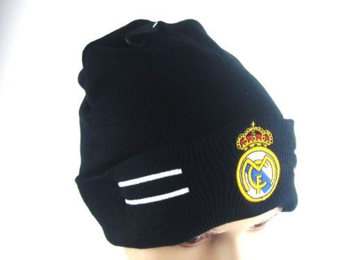 16f55ea9786 16 17 new black Hat for real madrid fans Warm Winter Knit Ski Beanie cap PM  M002