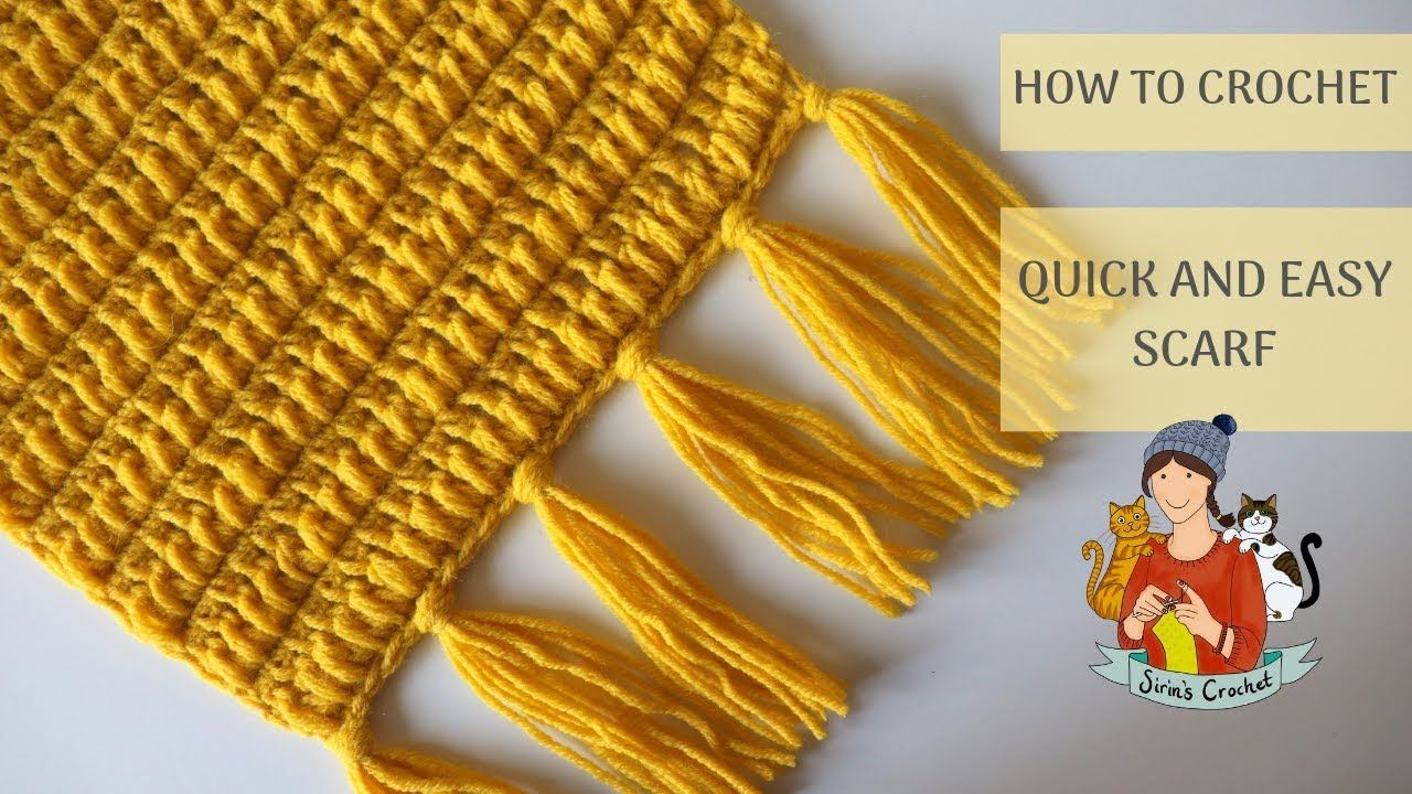 How To Crochet Quick And Easy Scarf YouTube Crochet