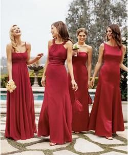 Mix And Match Bridesmaid Dresses All The Same Color Material But Diffe Styles