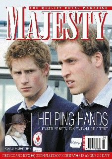 Majesty Magazine cover - Prince William and Prince Harry