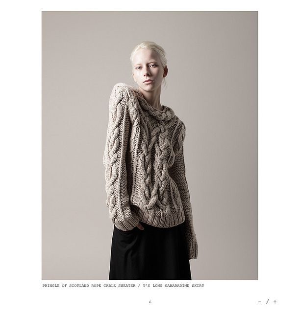 Rope Cable Sweater by Pringle of Scotland