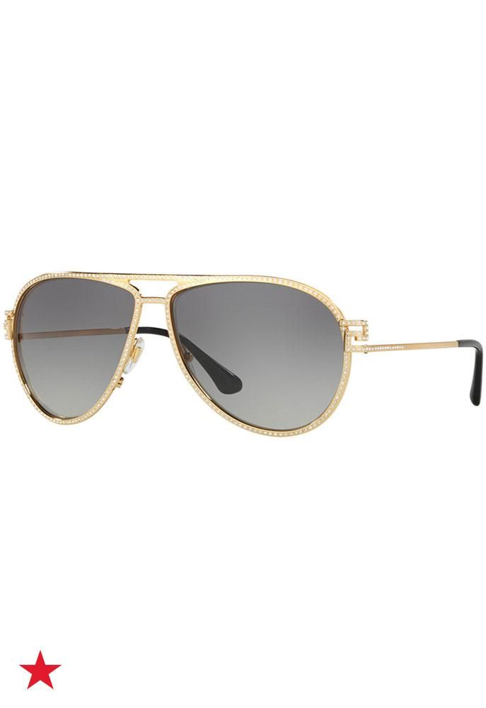 8a29efc243d3 Happy Spring Break! Time to make sure you have the perfect pair of sunnies  for your beach trip. We re obsessed with these glamorous shades from  Versace.