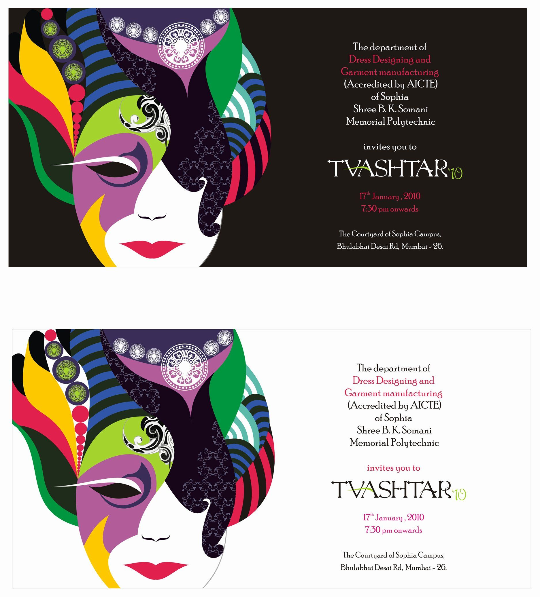 Fashion Show Invitation Template Unique Mozaik Event Invitation Event Invitation Templates Diy Wedding Invitations Templates