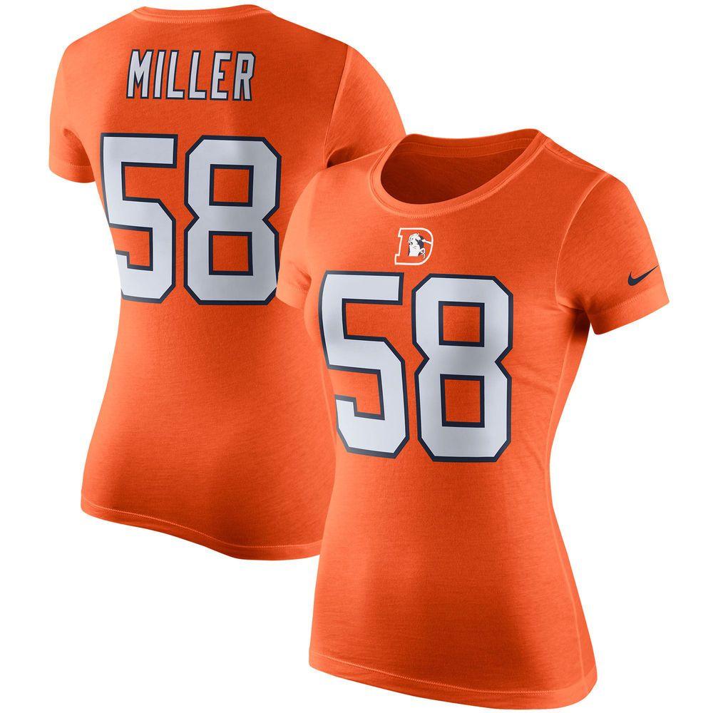 Von Miller Denver Broncos Nike Women's Player Pride Color Rush Name & Number T-Shirt - Orange