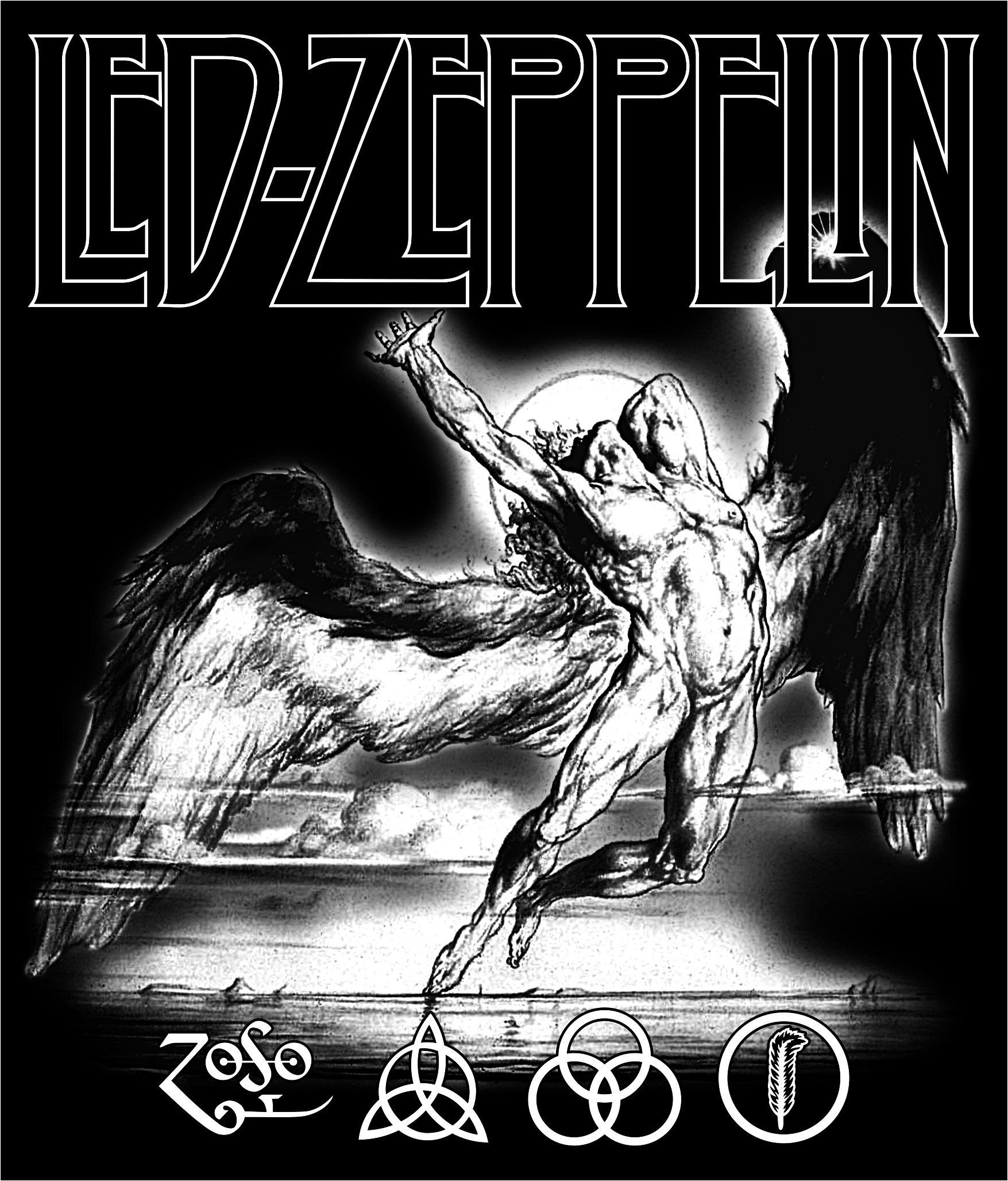 Led Zeppelin Angel Drawing