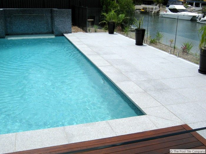 Light Grey Granite Pool Tiles Pool In 2019 Pool Pavers