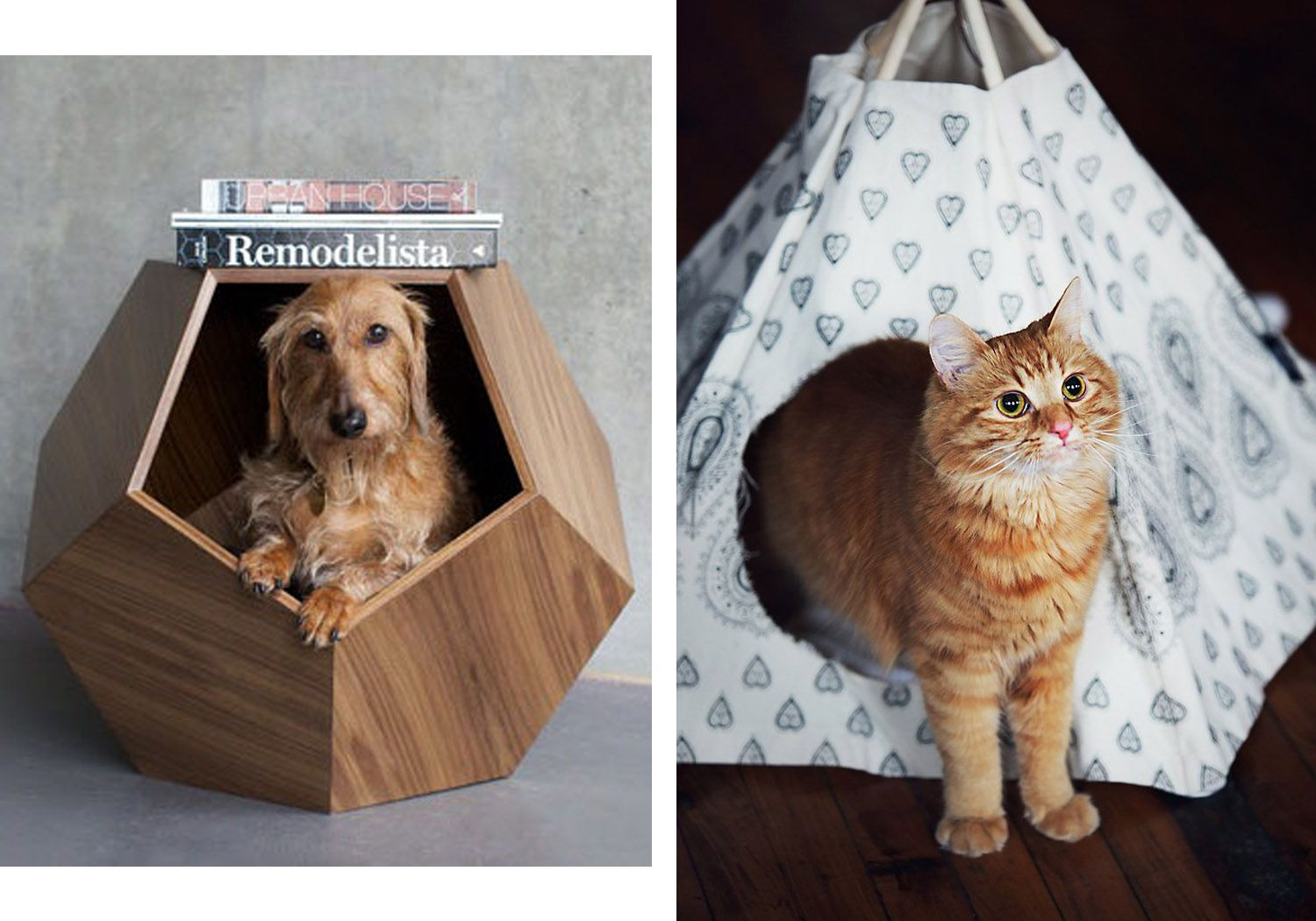 11 Ways To Make Room For Your Pets At Home Pet Spaces Wooden Dog House Dog House