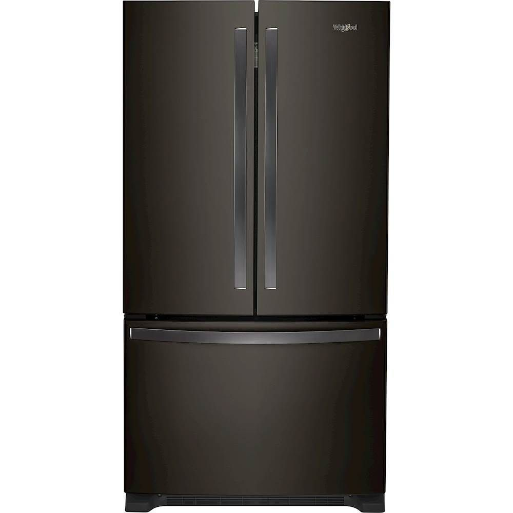 Whirlpool - 20 Cu. Ft. French Door Counter-Depth Refrigerator - Black Stainless steel