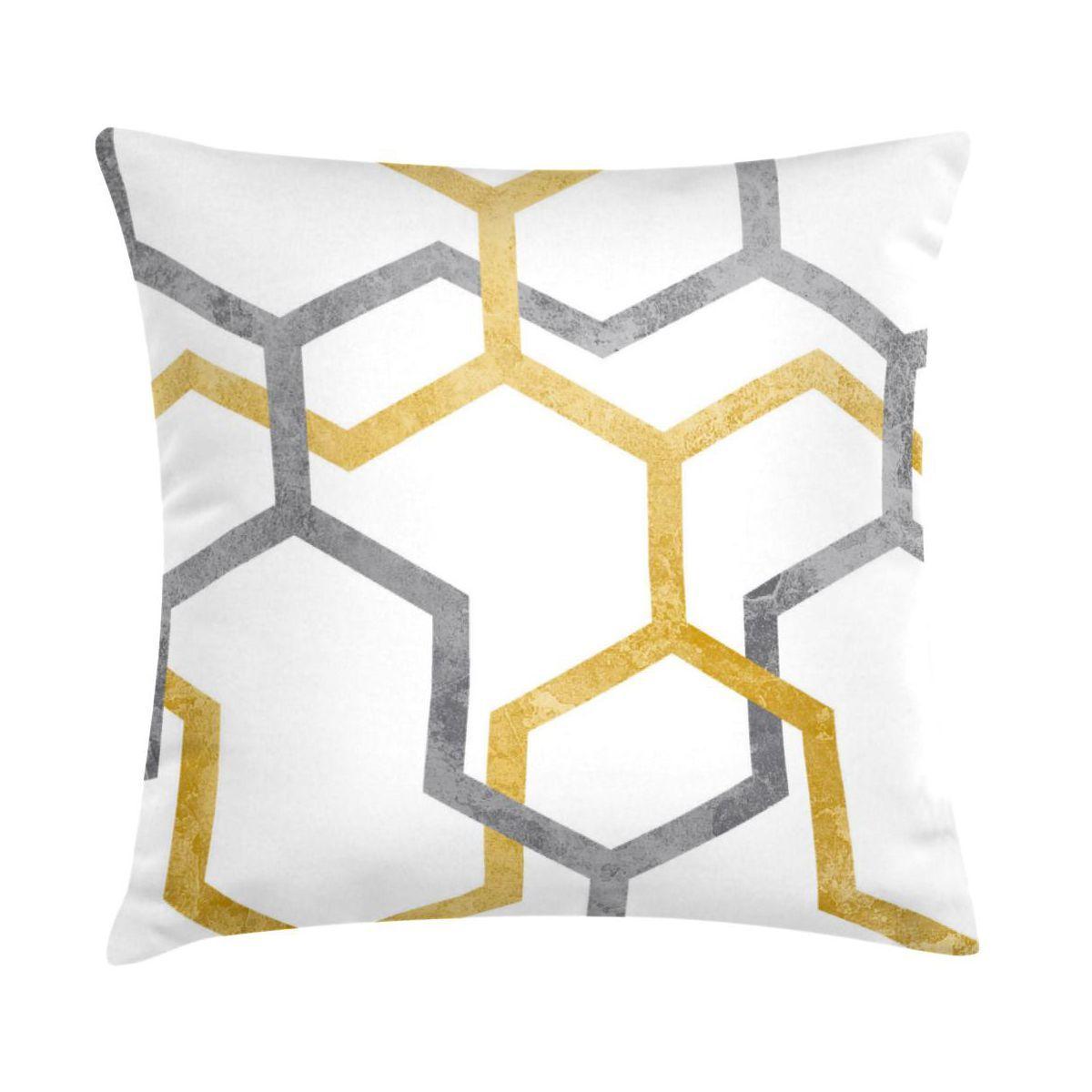 Poduszka Rowan żółta 45 X 45 Cm Poduszki Dekoracyjne W