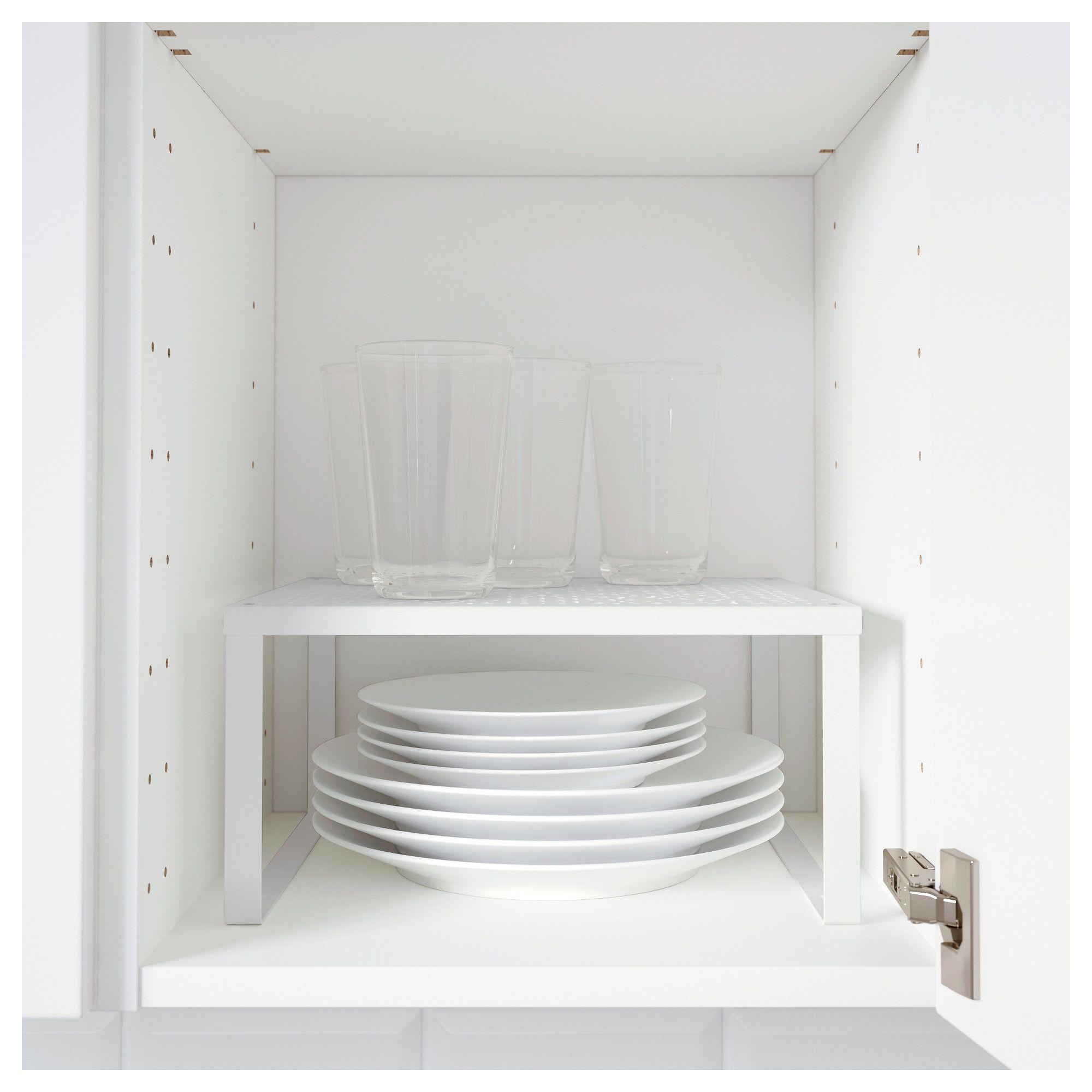 VARIERA Shelf insert white Ikea shelves, Plate shelves