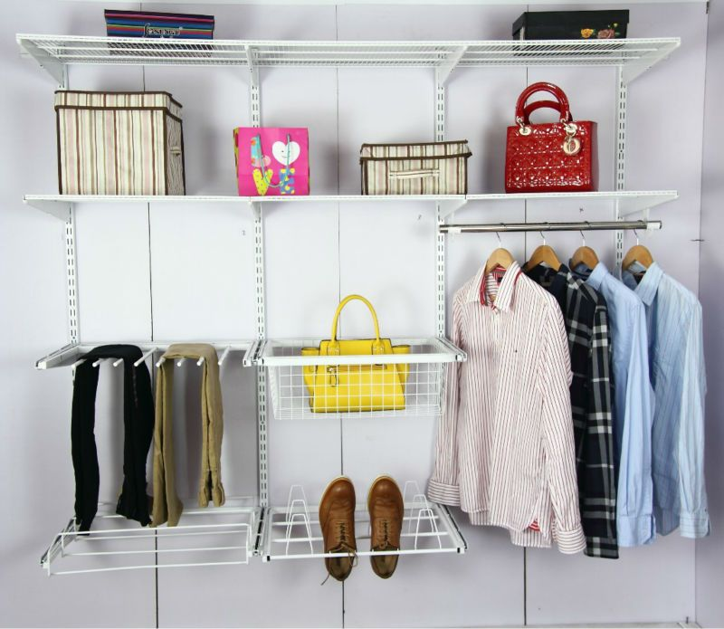 Diy Steel Closet Shelving System Adjustable Closet Kit , Find ...