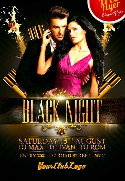 Free Black Night Club Psd Flyer Template - Http://Freepsdflyer.Com