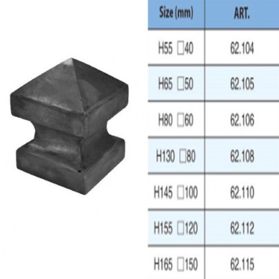 Simen Metal 62 104 62 115 High Quality Wrought Iron Post Caps Hollow Ball With Square Base Caps In 2020 Post Cap Wrought Iron Wrought