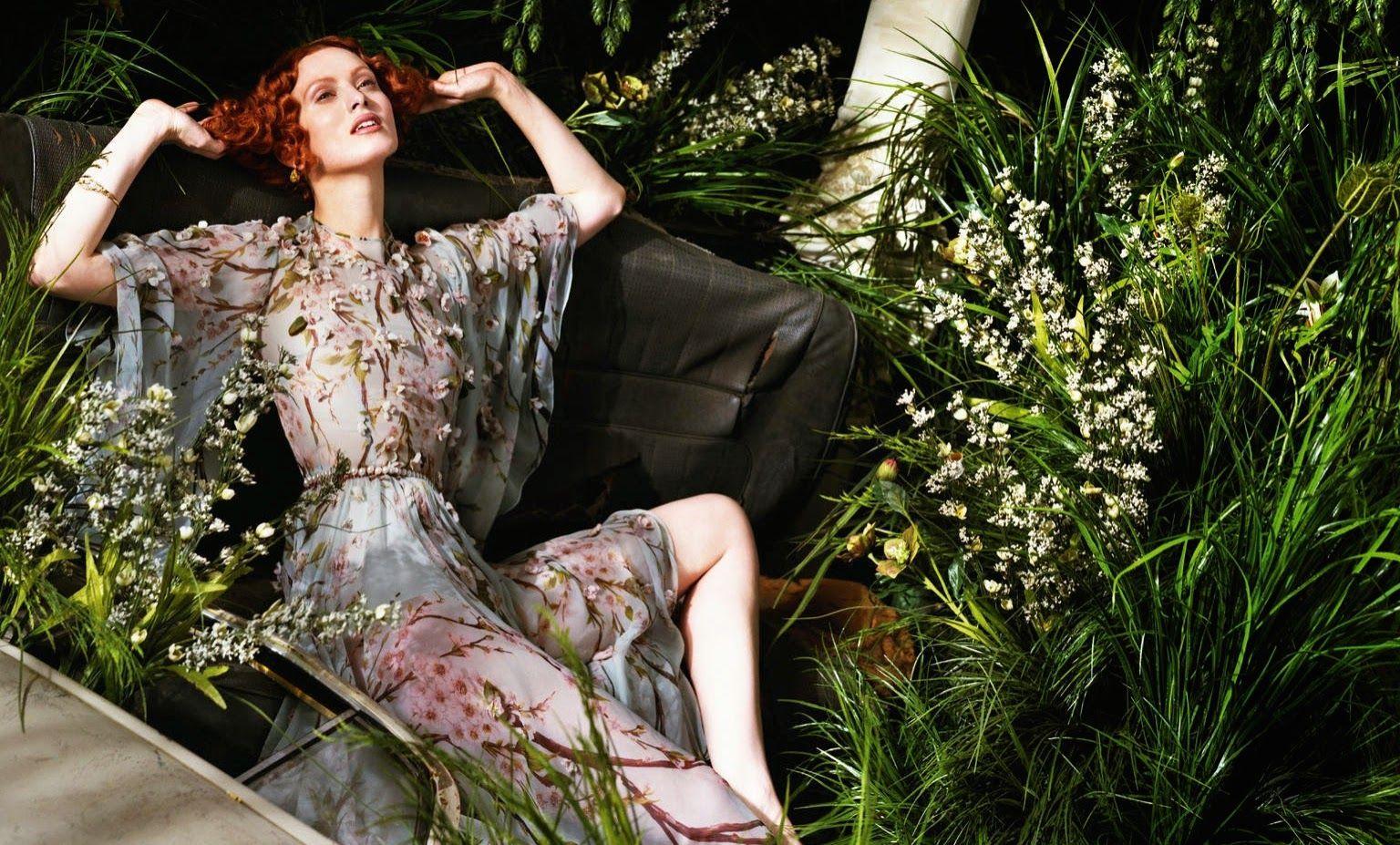 Karen Elson - Jeff Bark Photoshoot for Porter Magazine #2, Summer 2014