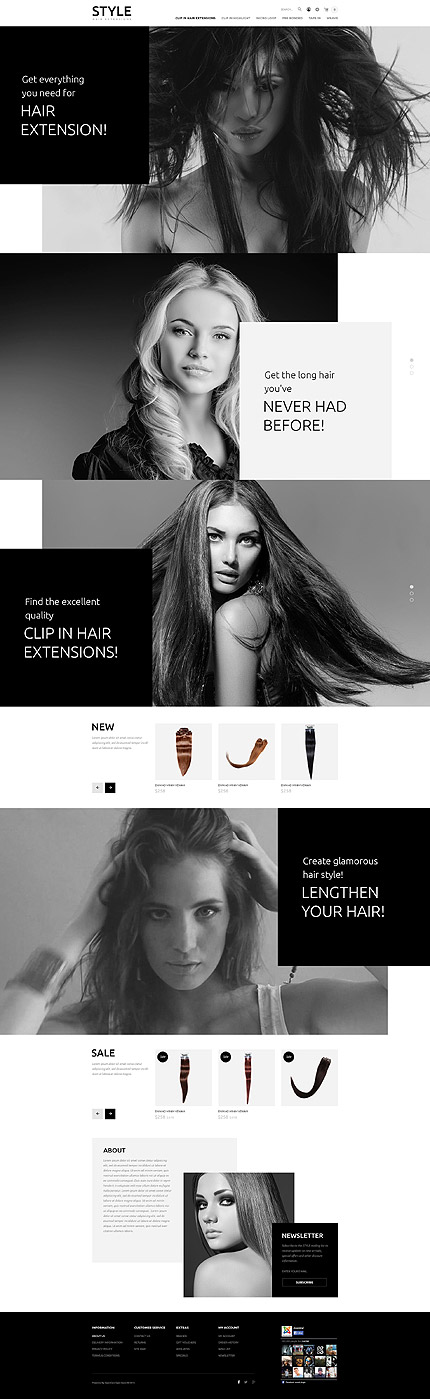 Hair Care Products Online Store #OpenCart #webtemplate #themes #business #responsive #template