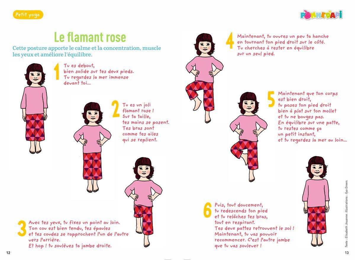 Yoga Des Petits Le Flamant Rose Lundi 13 Octobre Yoga Enfant Yoga Coucher Meditation Enfant