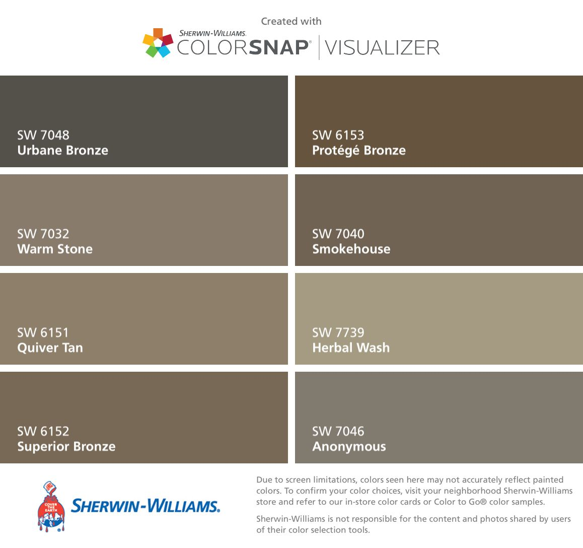 I found these colors with colorsnap visualizer for iphone - Sherwin williams exterior paint colors chart ...