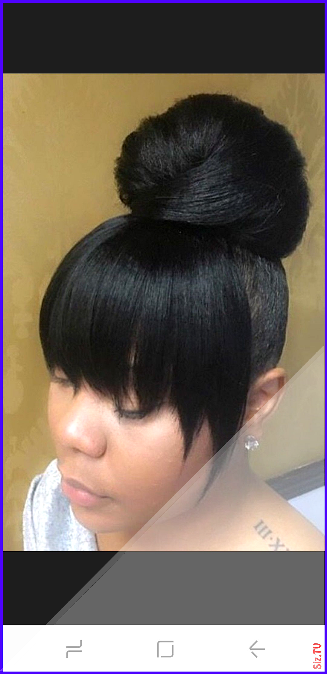 17 Cute Bun Hairstyles With Bangs That You Simply Cant Miss 17 Cute Bun Hairstyl In 2020 High Ponytail Hairstyles Weave Ponytail Hairstyles Black Hairstyles With Weave