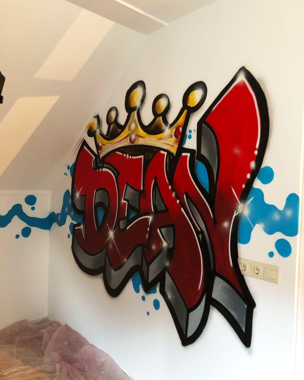 KING GRAFFITI slaapkamermuur in 2020 Graffitiletters