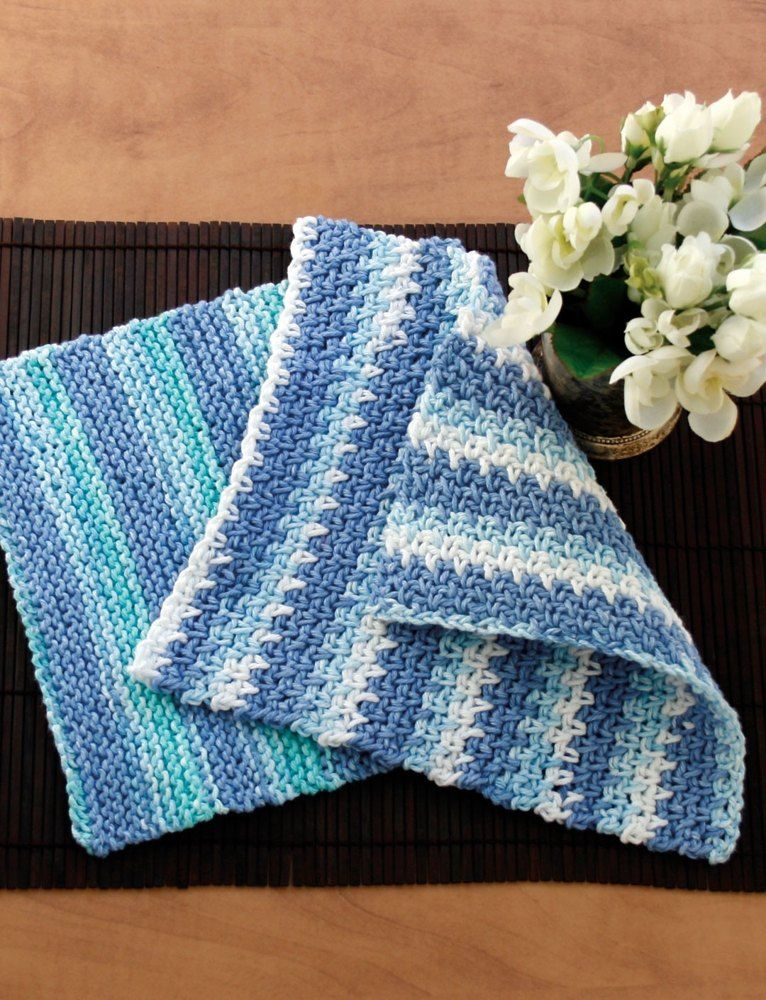 Dishcloth In Lily Sugar N Cream Stripes Free Crafts To Try