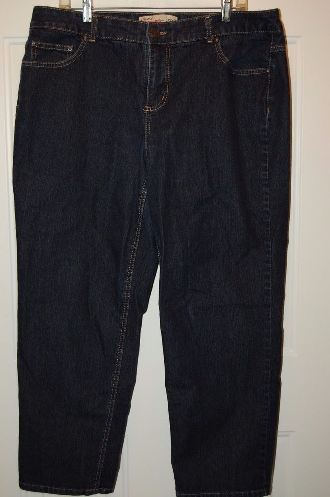 94e2269722d JMS Jeans Just My Size Womens 18 Short Classic Denim Pants Stretch ...