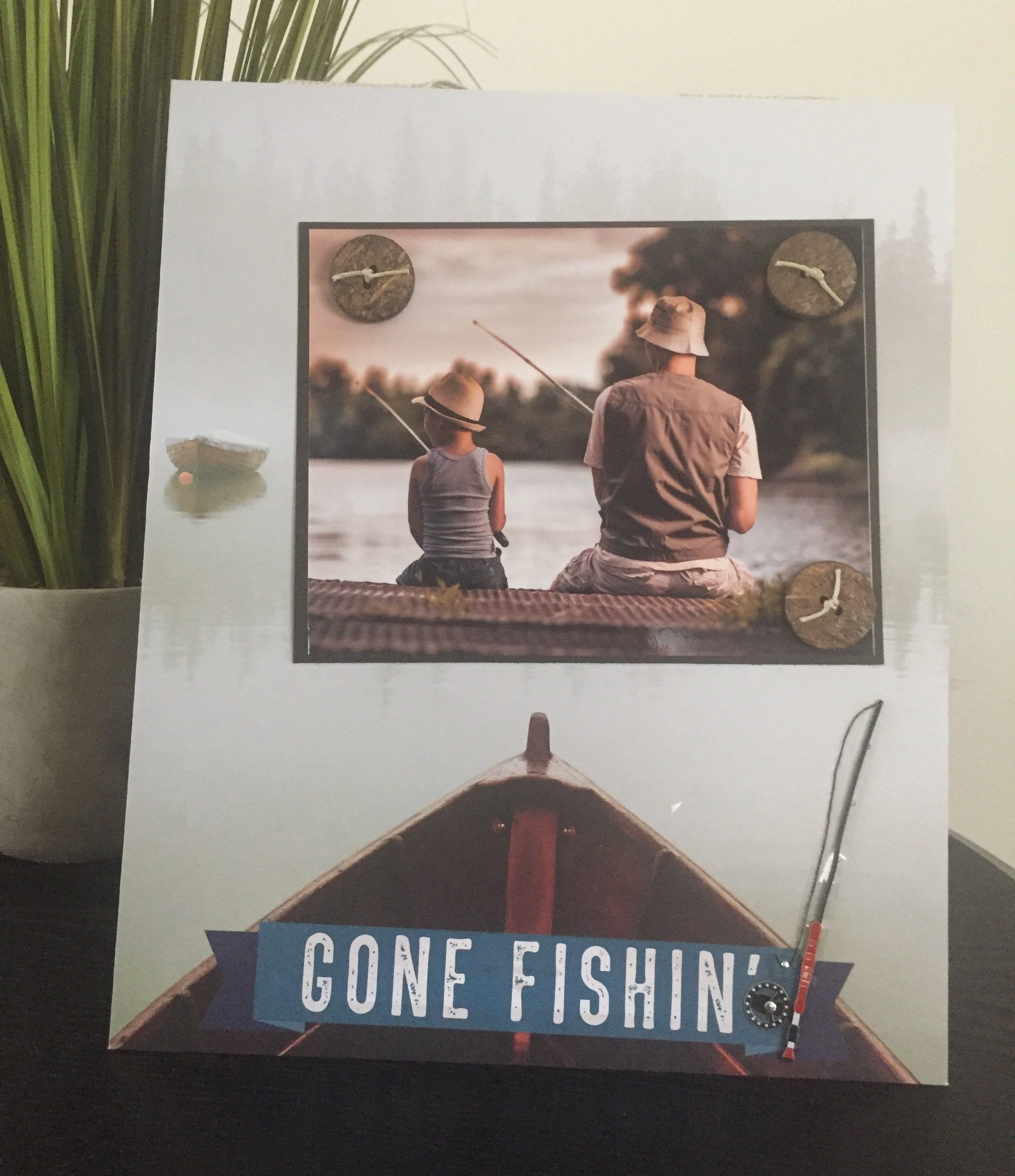 Gone Fishing Magnetic Picture Frame Handmade Father Father S Day Son Gift Home Decor By Frame A Memory Size 9 X 11 Holds 5 X 7 Photo With Images Magnetic Picture Frames Son Gift