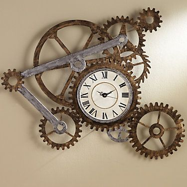 Show Details For Steampunk Wall Clock Gear Wall Clock Clock