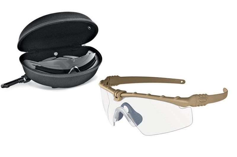 24395b1cd54 Oakley SI Ballistic M Frame 3.0 Shooting glasses. Dark Bone w  Grey clear  lenses and case.  OK People don t forget SAFETY