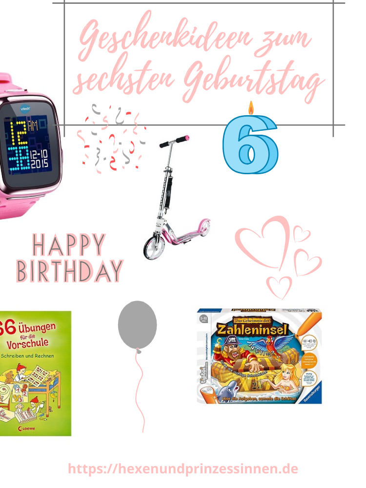 Geschenkideen zum sechsten Geburtstag