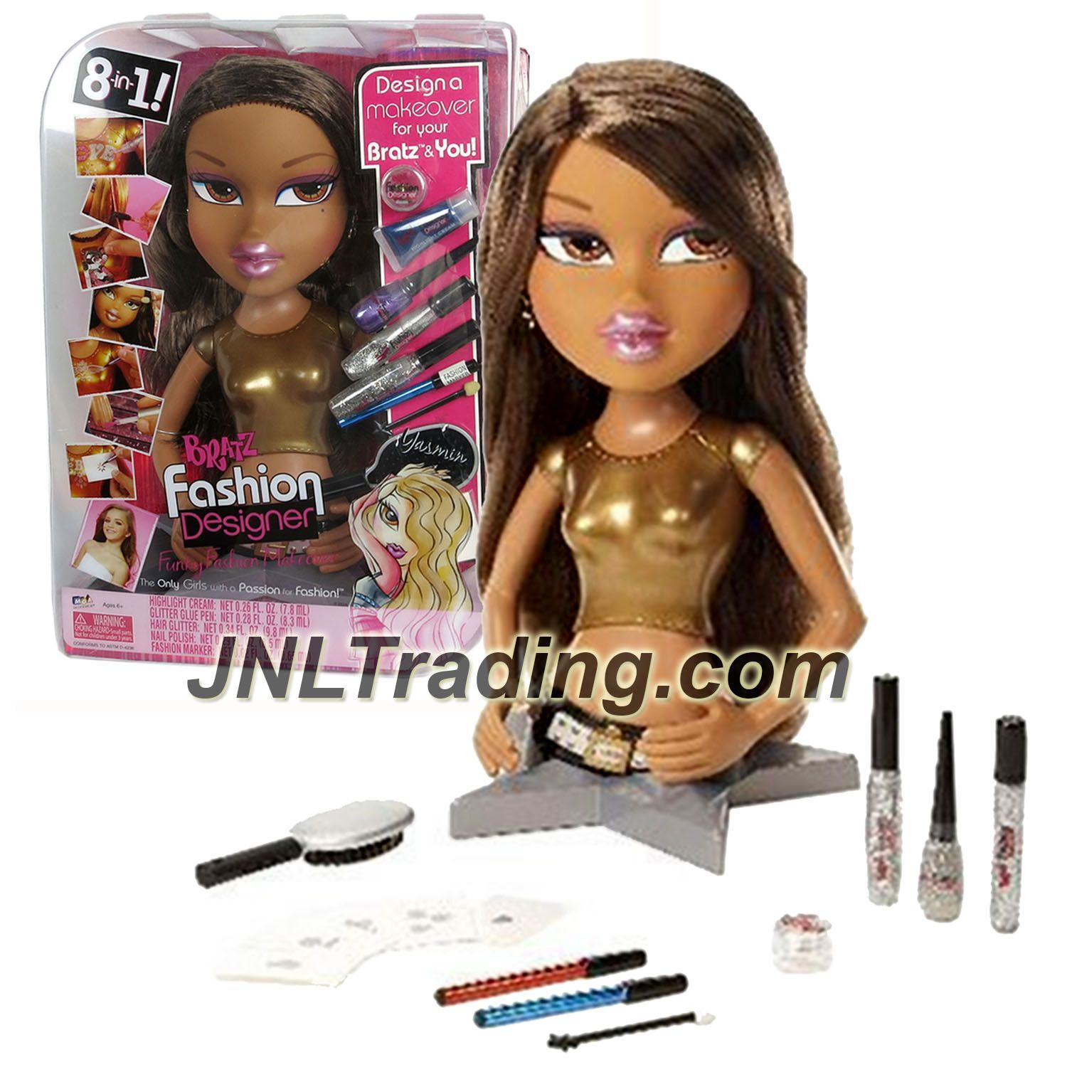 Mga Entertainment Bratz Fashion Designer Funky Fashion Makeover 12 Inch Tall Torso Doll Yasmin With Make Up Accessories And Hairbrush Funky Fashion Style Makeover Bratz Girls