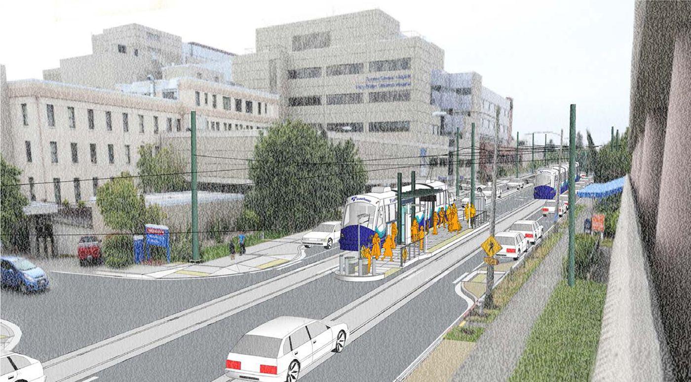 preps for light rail expansion Light rail, The