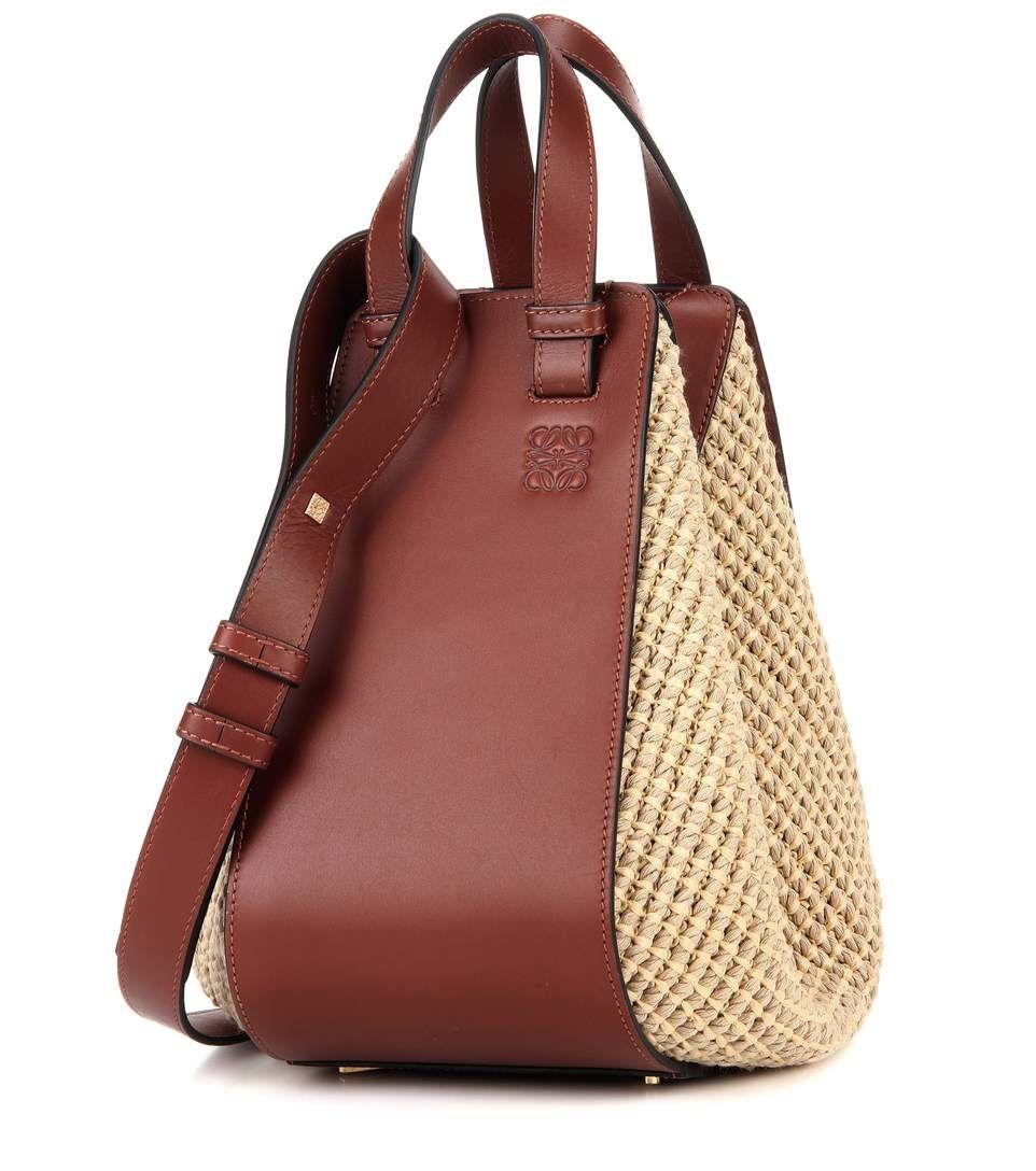 9dd8225176ae LOEWE Hammock Small Raffia And Leather Tote.  loewe  bags  shoulder bags  hand  bags  suede  tote  lining