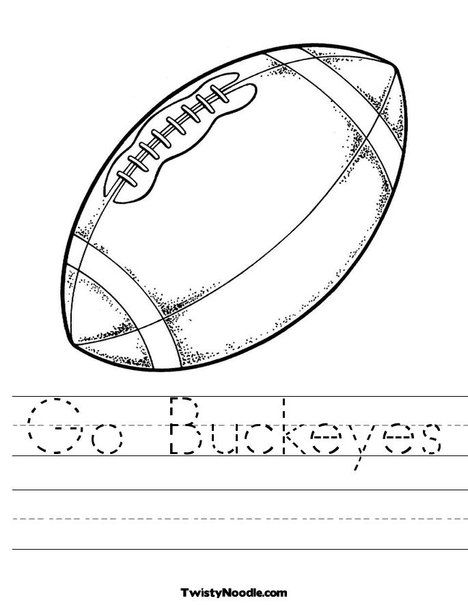 Ohio State Buckeyes Coloring Page With Images Football
