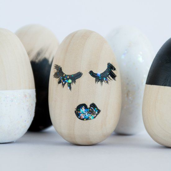 Modern Painted Wooden Eggs