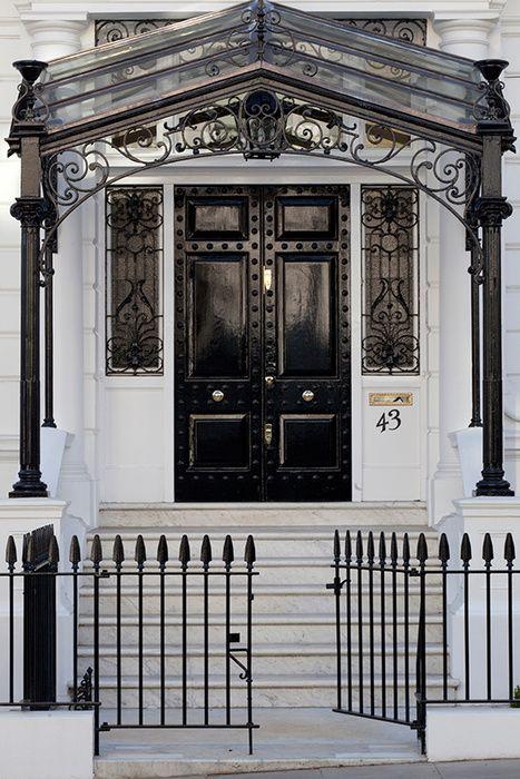 monochromatic grand front door