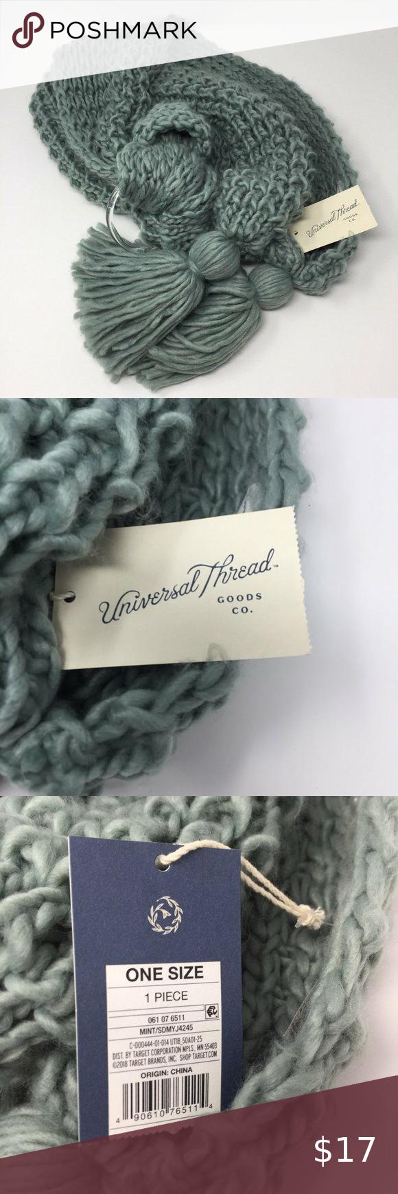 Photo of NWT Universal Thread Light Blue Knit Scarf Tassels NWT Universal Thread Long Blu…