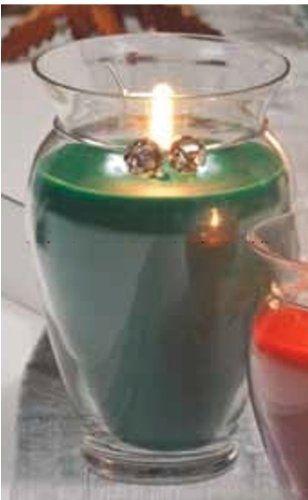 Northern Lights Candles Holiday Glass Candle Vase (Fraser Fir, 14 Oz) Northern  Lights