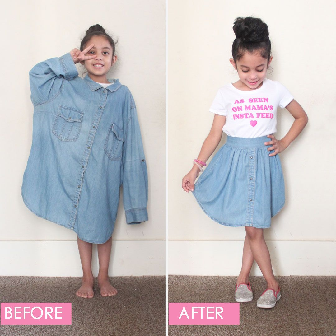 DIY Upcycled Shirt to Skirt Tutorial by Candice Ayala #diyclothes