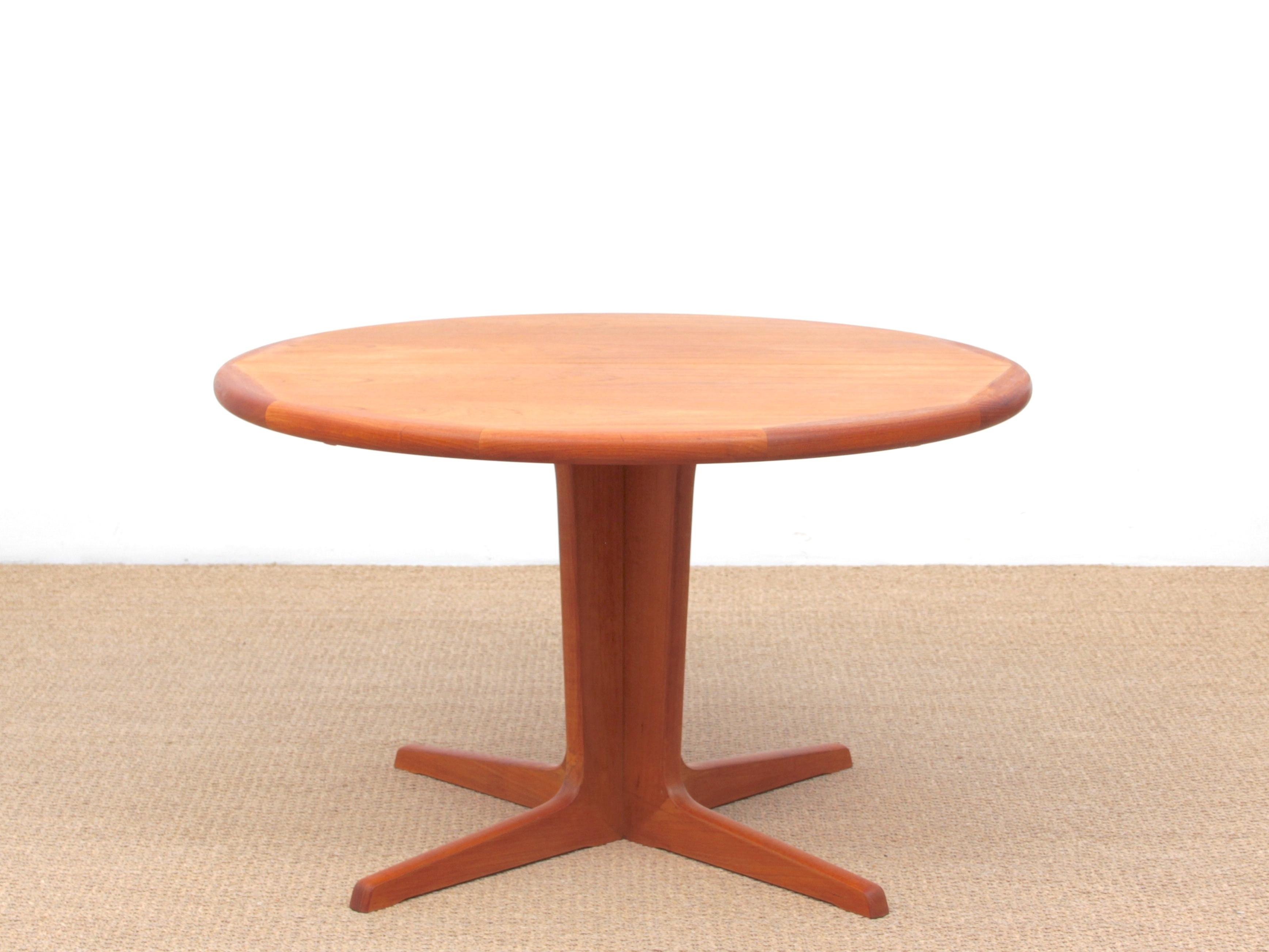 Mid Century Modern Scandinavian Round Dining Table In Teak 6 10