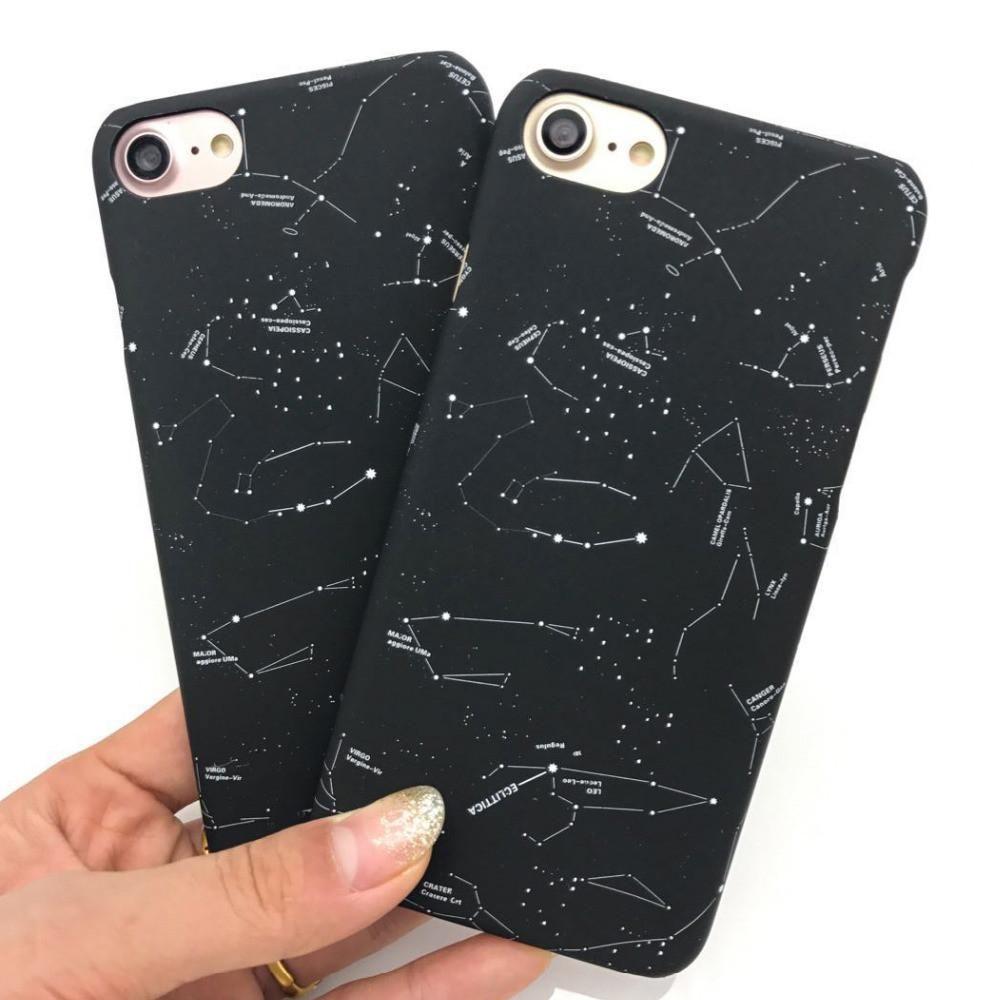 Constellaton Night Sky Stars Iphone Case In 2018 Phone Cases 7 Plus Totu Design Crystal Color Dark Blue Six Black Hard Laptop