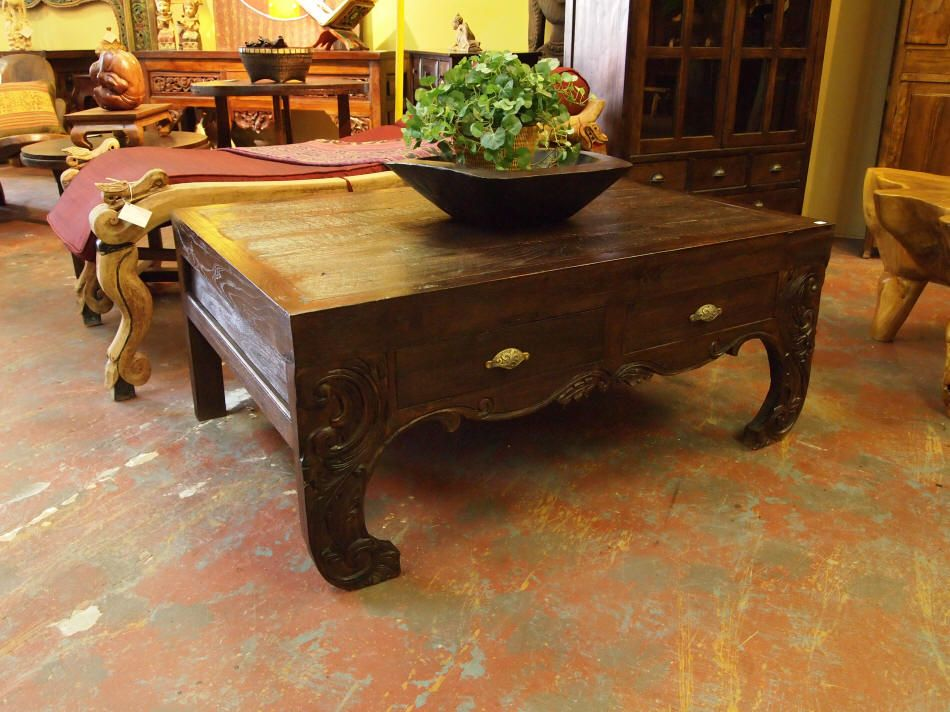 Round Asian Style Teak Coffee Table   Indonesian Furniture | Gado Gado |  Gado Gado Indonesian Furniture Gallery | Pinterest | Teak Coffee Table, ...