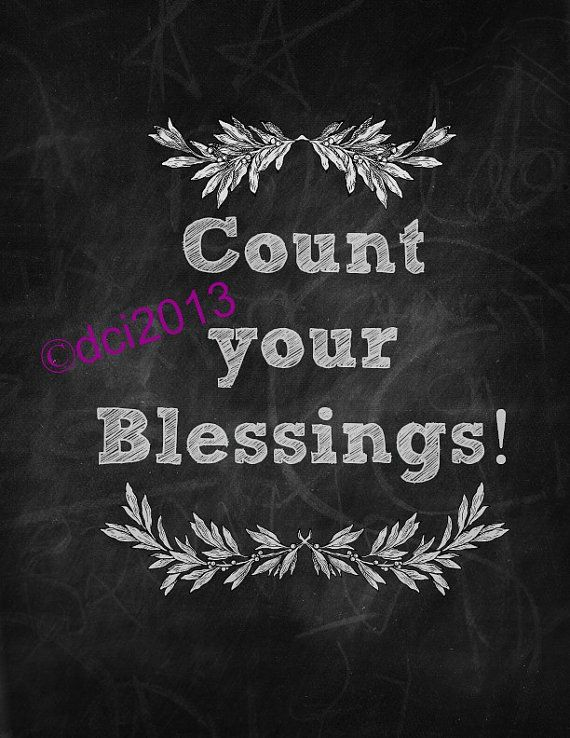 """new digital file! """"Count Your Blessings"""" chalkboard art by TheSalvagedHome, $4.00"""