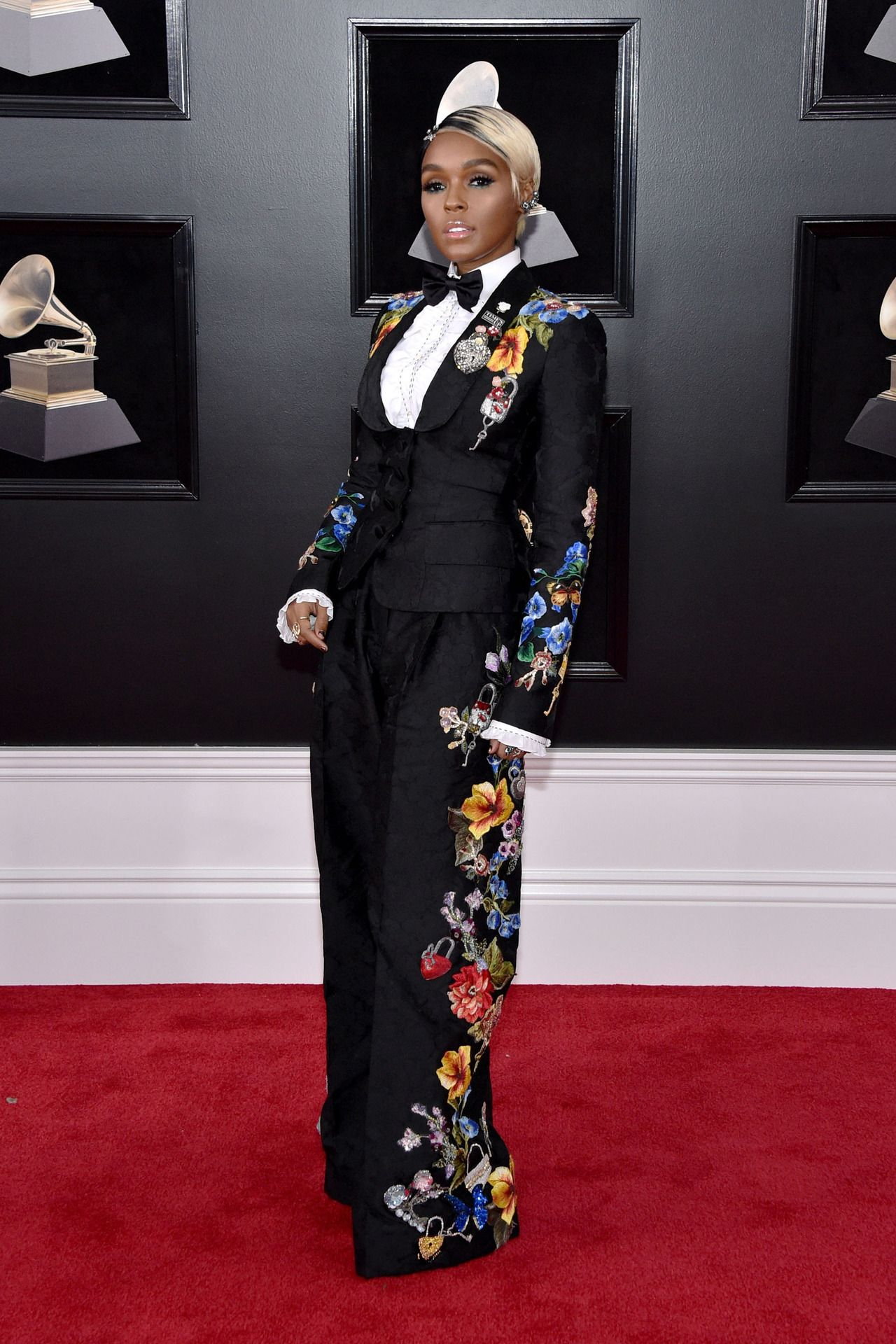 """e7fdd82f8c celebsofcolor """"Janelle Monae attends the 60th Annual GRAMMY Awards at Madison  Square Garden on January 28"""