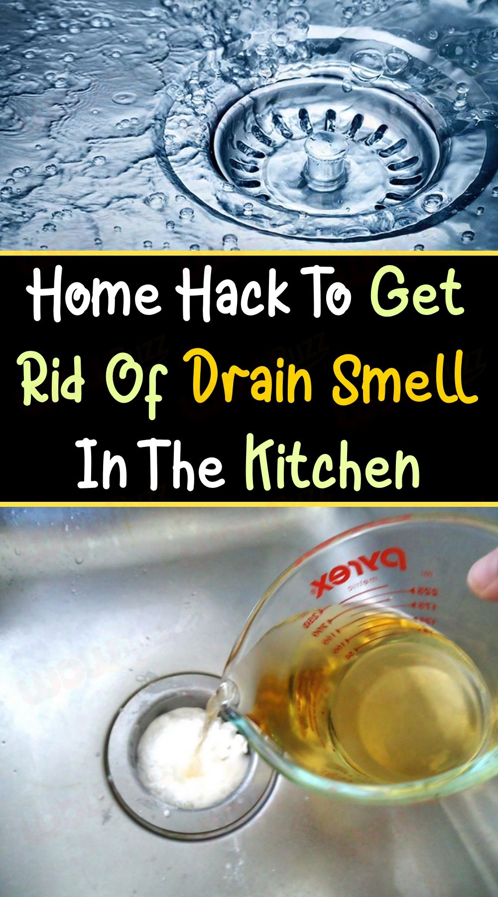 Home Hack To Get Rid Of Drain Smell In The Kitchen